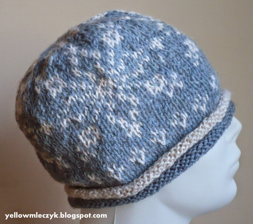 stranded knitting hat